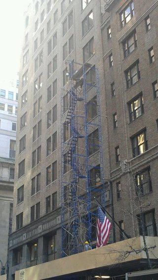 Midtown Manhattan scaffolding